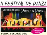 El II Festival de Danza Paso a paso tendr� lugar el s�bado 3 de julio