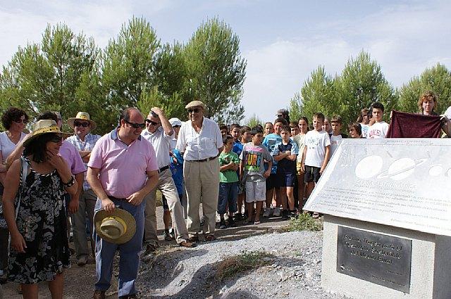 El Alcalde y la Presidenta de Grupo Tragsa inauguran el nuevo sendero ecoturístico sobre astronomía en Puerto Lumbreras - 3, Foto 3