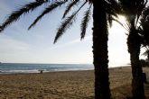 Las playas de la zona oeste de Cartagena volverán a lucir la bandera azul a partir del lunes