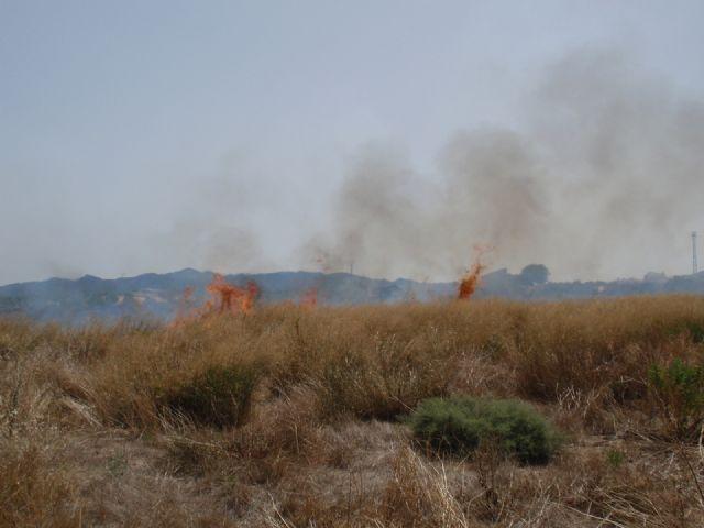 Protección Civil, Bomberos y Policía Local de Totana participaron en las labores de extinción de un incendio, Foto 2