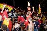 Cartagena se vistió de rojo para celebrar el triunfo de España