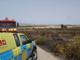 Protección Civil, Bomberos y Policía Local de Totana participaron en las labores de extinción de un incendio