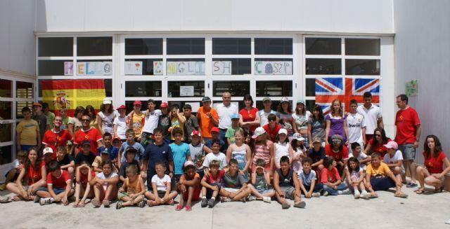 Puerto Lumbreras congrega a 60 jóvenes en el primer Campamento de verano del Cabezo la Jara destinado al aprendizaje de inglés - 1, Foto 1