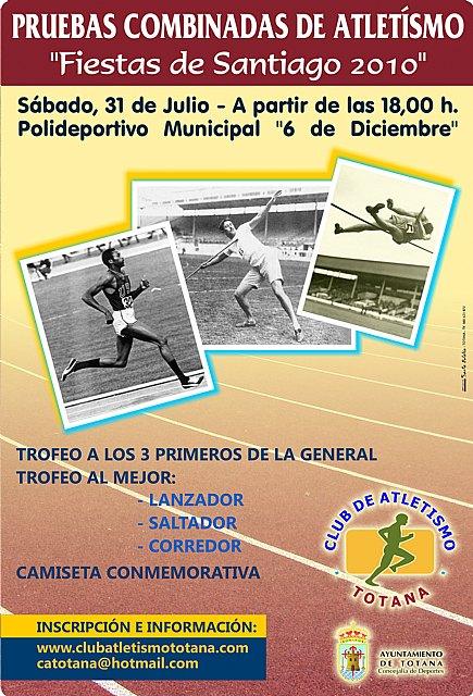 El Club Atletismo Totana organiza las pruebas combinadas 2010, Foto 1