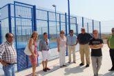 La Alcaldesa inaugura dos pistas de pádel y una polideportiva en La Manga
