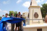 Un monolito recuerda la antigua división de los concejos de Cartagena, Lorca y Murcia
