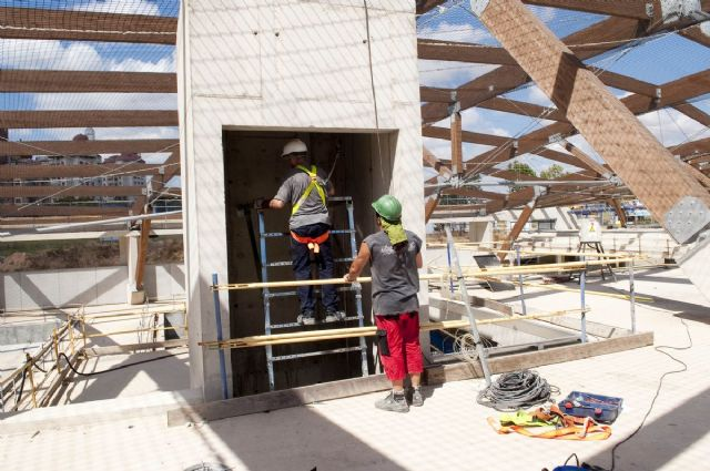 Avanzan los trabajos de cerramiento de la cubierta del Palacio de Deportes - 4, Foto 4