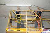 Avanzan los trabajos de cerramiento de la cubierta del Palacio de Deportes