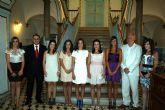 El alcalde recibe a las candidatas a 'Reina de las Fiestas' 2010