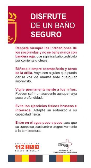 La Comunidad distribuye folletos y carteles con consejos para disfrutar de un baño seguro - 1, Foto 1