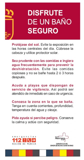 La Comunidad distribuye folletos y carteles con consejos para disfrutar de un baño seguro - 2, Foto 2