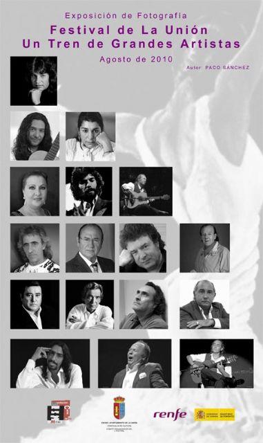 Renfe presenta la exposición de fotografía Festival de la Unión, Un tren de Grandes Artistas en los trenes de Larga Distancia que unen Cartagena con Barcelona, Madrid y Valenc - 1, Foto 1