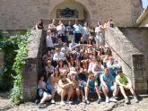 Unos 50 jóvenes de San Javier participaron en el campamento y campo de trabajo celebrado en julio en Javier, Navarra
