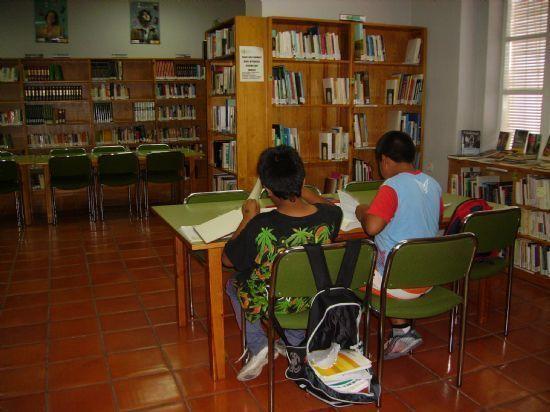 La sala de estudio de la biblioteca municipal mantiene su horario para los exámenes de septiembre, Foto 1