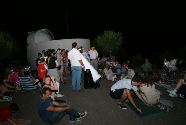 Observación multitudinaria de 'lluvia de estrellas' en el Cabezo de la Jara - 3, Foto 3