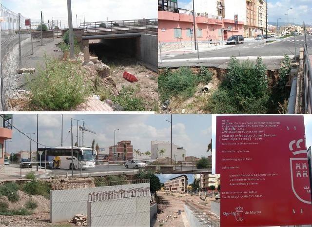 IU denuncia el abandono de las obras de ampliación del puente en la Avd. Juan Carlos I, que deberían haber terminado en abril - 1, Foto 1