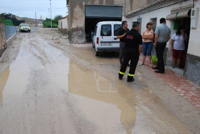 El alcalde de Totana y los concejales de Pedanías, Agricultura y Servicios han visitado esta mañana las zonas más afectadas por la tromba de agua - 1, Foto 1