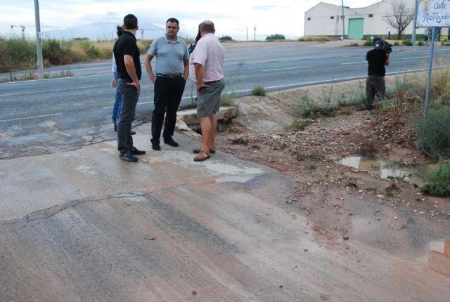 El alcalde de Totana y los concejales de Pedanías, Agricultura y Servicios han visitado esta mañana las zonas más afectadas por la tromba de agua - 4, Foto 4