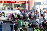 Cerrado el mercado de Santa Florentina por el desprendimiento de una canaleta de cables