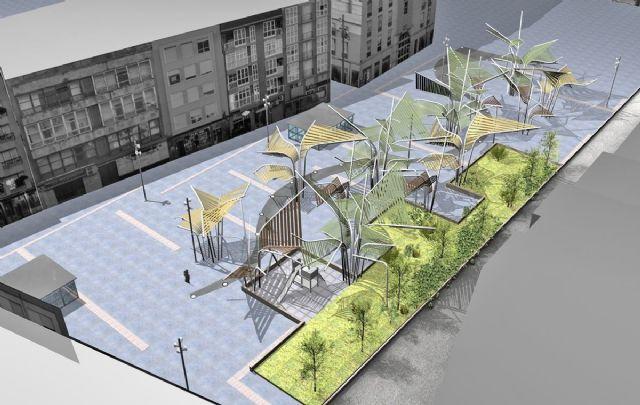 Empiezan a plantar árboles artificiales de la plaza del Rey - 2, Foto 2
