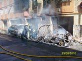 Agentes de la Policía Local de Alcantarilla desalojan un edificio del Camino de la Silla