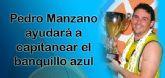 Pedro Manzano, pico, pala y luz para la zona del Molina Basket