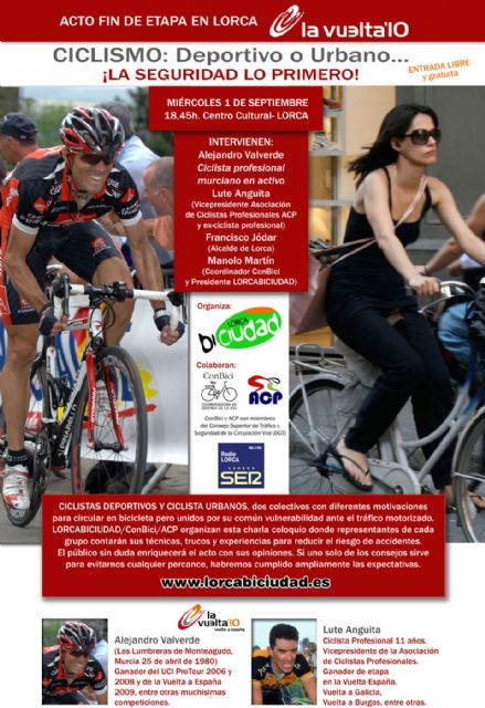 Este miércoles 1 de septiembre Alejandro Valverde participará en el debate Ciclismo: Deportivo o Urbano ¡La Seguridad lo primero! - 1, Foto 1