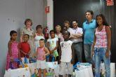 El alcalde de San Pedro del Pinatar recibió en el Salón de Plenos del Ayuntamiento a siete niños saharauis