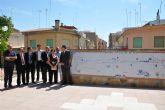 Inaugurado el gran mural homenaje a los municipios que atraviesa el río Mula