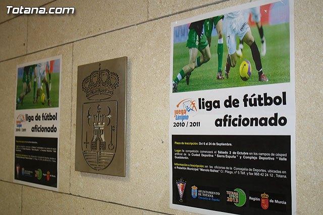 La nueva temporada 2010-11 de la Liga de F�tbol Aficionado Juega Limpio abre hoy su plazo de inscripci�n, Foto 2