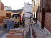 El Ayuntamiento de Puerto Lumbreras renueva más de 1.800 metros lineales de aceras en el casco urbano de la localidad