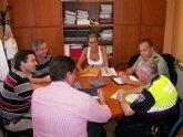 Reunión de la Junta Local de Seguridad para planificar las próximas fiestas de El Otro Lao y La Algaida 2010