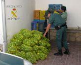 La Guardia Civil ha detenido a una persona in fraganti por la sustracción de fruta