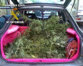 La Guardia Civil sorprende a dos jóvenes trasladando 10 kilos de marihuana