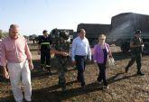 El Alcalde visita a los más de 200 militares del Grupo de Artillería Antiaérea I/74 que realizan maniobras del ejército en Puerto Lumbreras