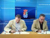 El Ayuntamiento de Molina de Segura y AMUSAL colaboran en la promoción de la economía social y el fomento del empleo y desarrollo local