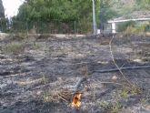 Protecci�n Civil, Bomberos, Agentes Forestales y Polic�a Local de Totana participan en las labores de extinci�n de un incendio