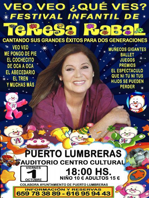 El Festival Infantil de Teresa Rabal 'Veo Veo ¿Qué Ves?' llega a Puerto Lumbreras - 1, Foto 1