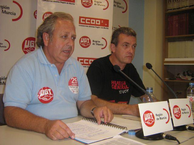 El seguimiento de la Huelga General alcanza el 70% de participaci�n en la Regi�n de Murcia, seg�n los sindicatos, Foto 1