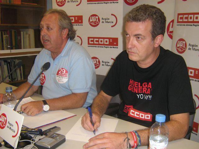 El seguimiento de la Huelga General alcanza el 70% de participaci�n en la Regi�n de Murcia, seg�n los sindicatos, Foto 2