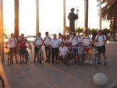 Peregrinan a Caravaca en bicicleta desde Santiago de la Ribera
