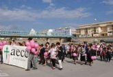 Más de un centenar de mujeres lumbrerenses participan en la Marcha Popular con motivo del Día Internacional del Cáncer de Mama