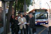 Pedro López propone un billete único a 1 euro en el transporte público en todo el municipio  y líneas directas desde las pedanías a la UMU