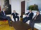 El consejero de Justicia y Seguridad Ciudadana mantiene un encuentro con el vicepresidente del Consejo General del Poder Judicial, Fernando de Rosa