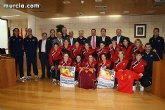 Autoridades municipales ofrecen una recepción institucional a la Selección Española Femenina de Fútbol-Sala