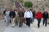 Valcárcel acompaña a más de 4.500 agricultores, ganaderos y pescadores en la peregrinación del sector agrario a Caravaca de la Cruz