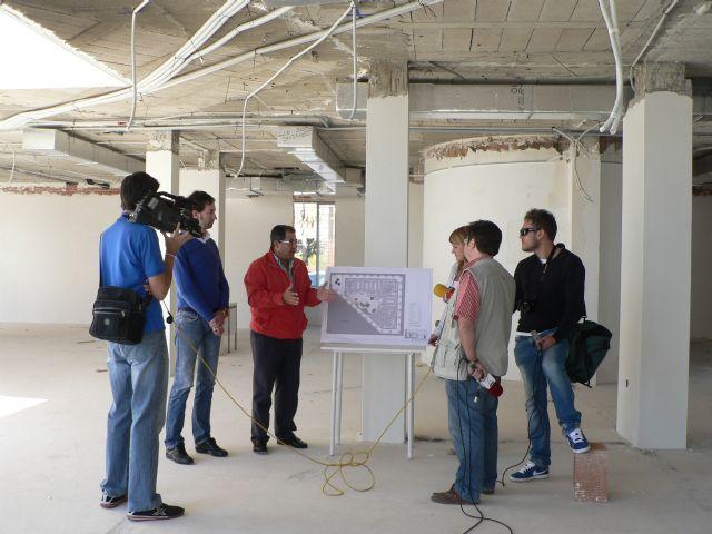 Blaya visita las obras de la biblioteca del Puerto - 2, Foto 2
