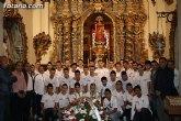 El Club Ol�mpico de Totana lleva a cabo su tradicional ofrenda floral a la patrona del municipio