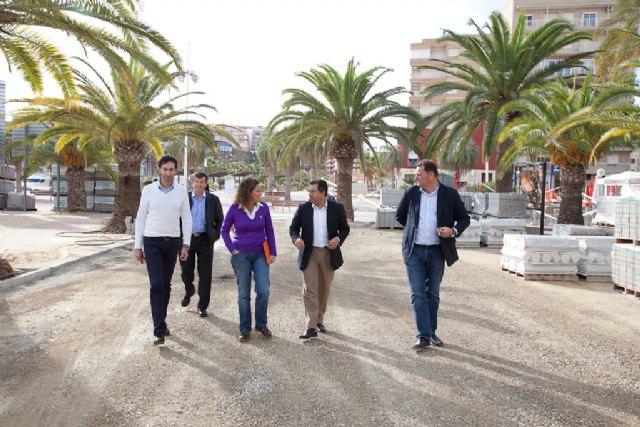 Las obras de los nuevos paseos marítimos del Puerto de Mazarrón avanzan a buen ritmo, Foto 1
