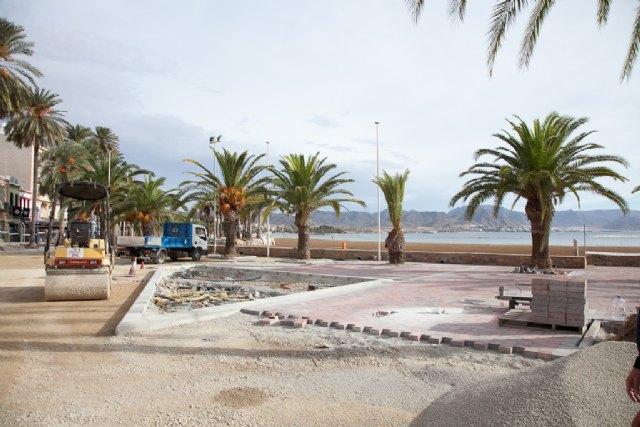 Las obras de los nuevos paseos marítimos del Puerto de Mazarrón avanzan a buen ritmo, Foto 2